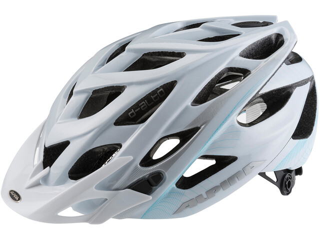 Alpina D-Alto Casco de bicicleta, white-blue-silver